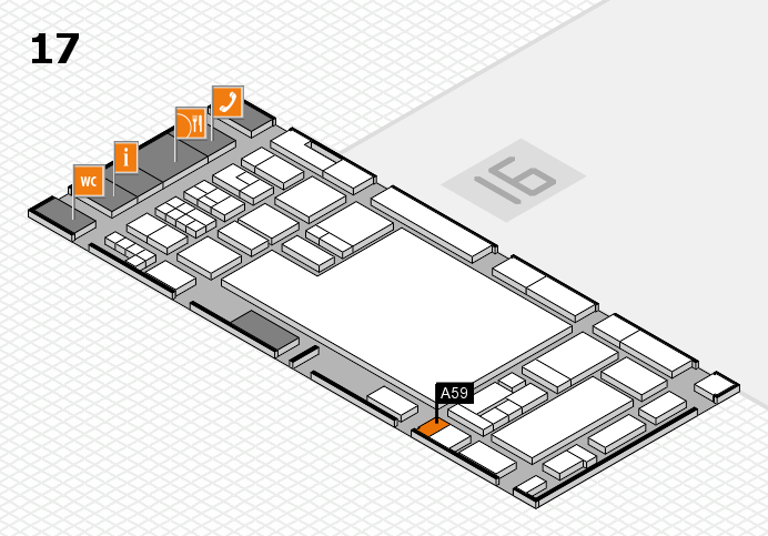 glasstec 2016 hall map (Hall 17): stand A59