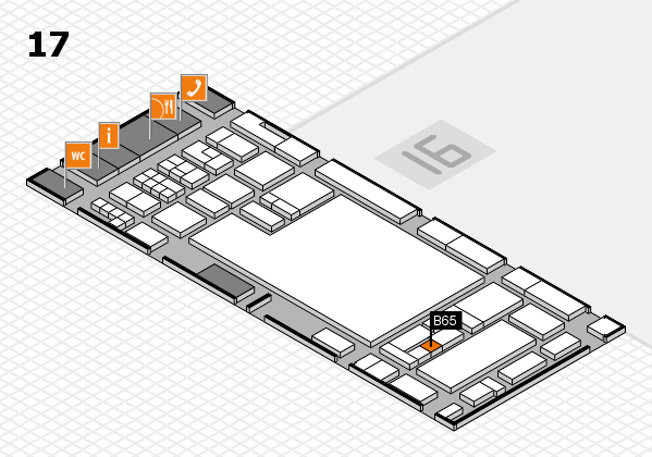 glasstec 2016 hall map (Hall 17): stand B65