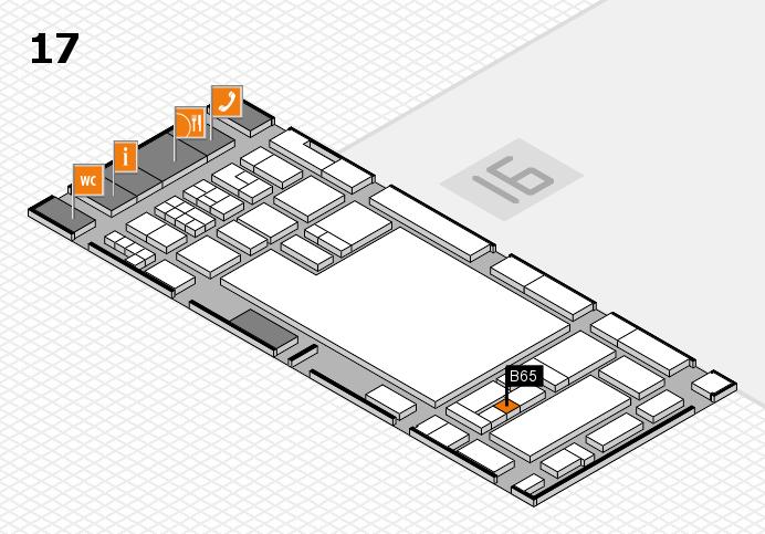 glasstec 2016 hall map (Hall 17): stand B65