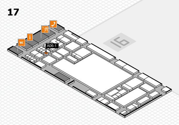 glasstec 2016 hall map (Hall 17): stand A06-1