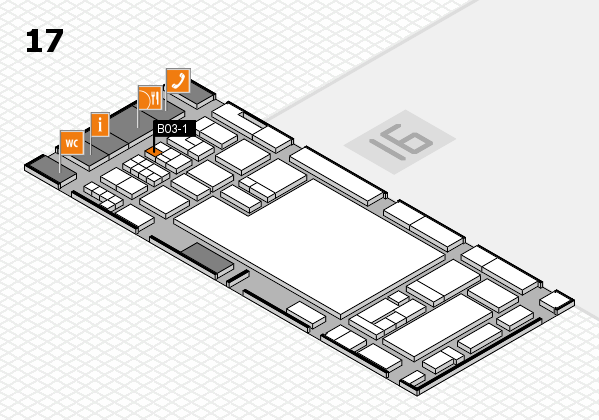 glasstec 2016 Hallenplan (Halle 17): Stand B03-1