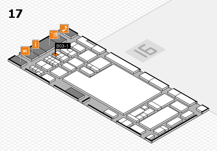 glasstec 2016 hall map (Hall 17): stand B03-1