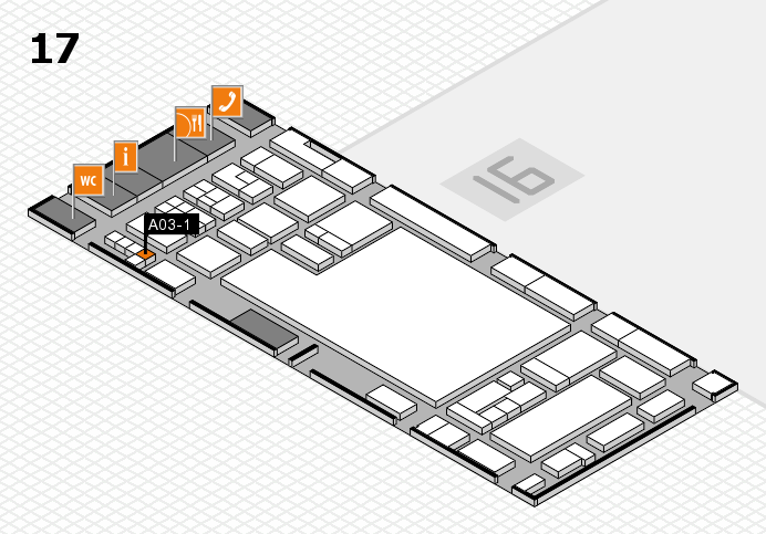 glasstec 2016 hall map (Hall 17): stand A03-1