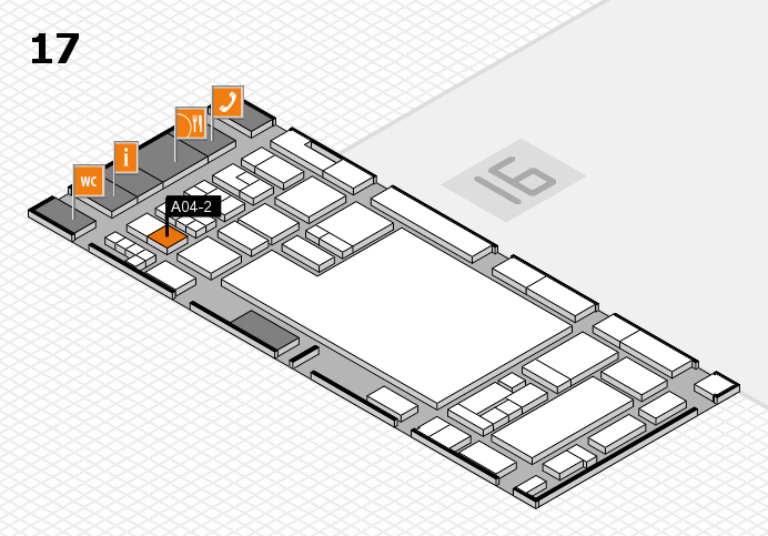 glasstec 2016 hall map (Hall 17): stand A04-2