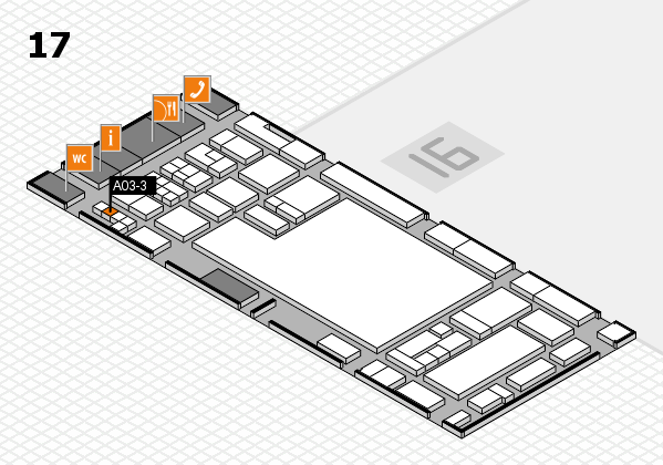 glasstec 2016 hall map (Hall 17): stand A03-3