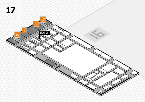 glasstec 2016 hall map (Hall 17): stand B03-2