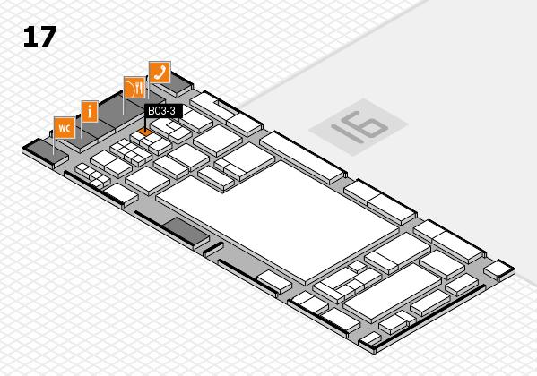 glasstec 2016 Hallenplan (Halle 17): Stand B03-3
