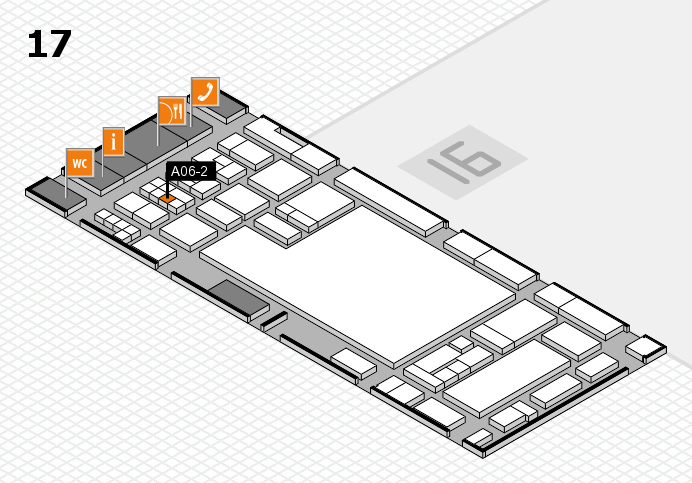 glasstec 2016 hall map (Hall 17): stand A06-2