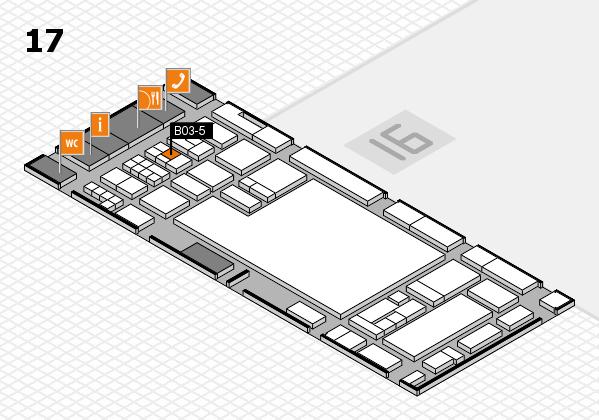 glasstec 2016 Hallenplan (Halle 17): Stand B03-5