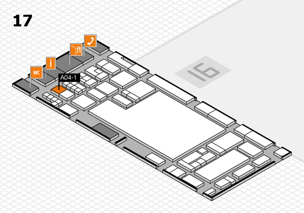 glasstec 2016 hall map (Hall 17): stand A04-1