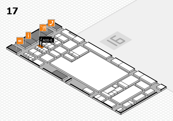 glasstec 2016 hall map (Hall 17): stand A06-6