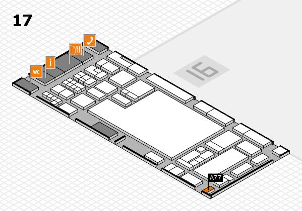 glasstec 2016 hall map (Hall 17): stand A77