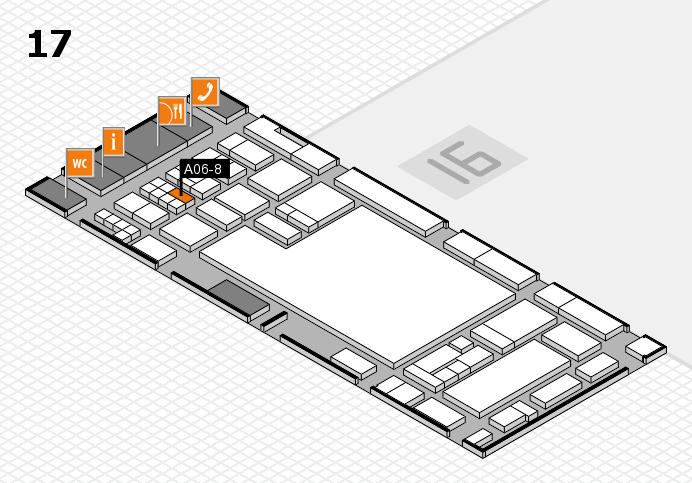 glasstec 2016 hall map (Hall 17): stand A06-8