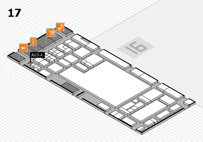glasstec 2016 hall map (Hall 17): stand A03-4