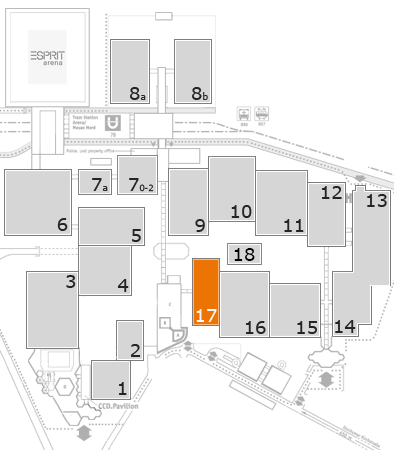 glasstec 2016 fairground map: Hall 17