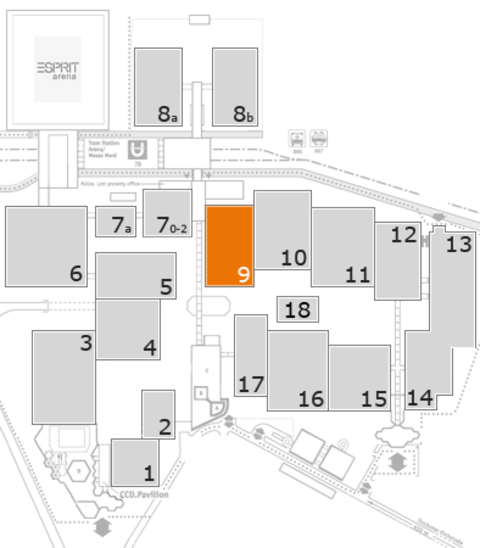 glasstec 2016 fairground map: Hall 9