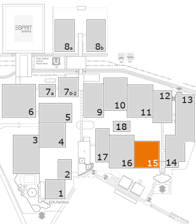 glasstec 2016 fairground map: Hall 15