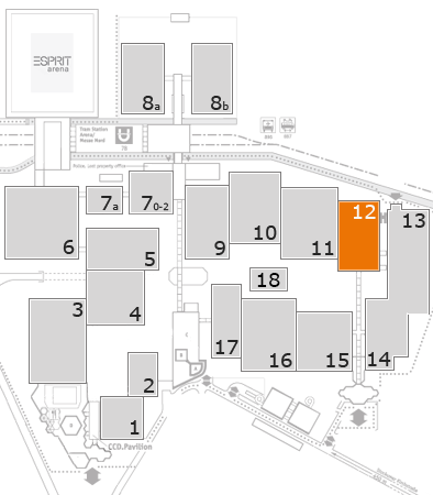 glasstec 2016 fairground map: Hall 12