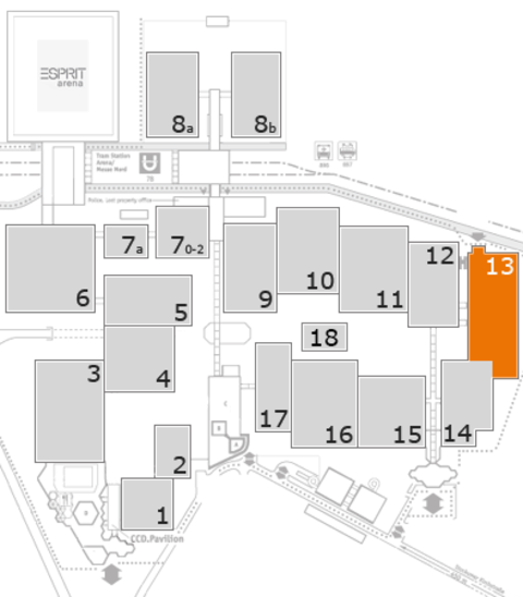 glasstec 2016 fairground map: Hall 13