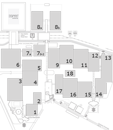 glasstec 2016 fairground map: North Entrance
