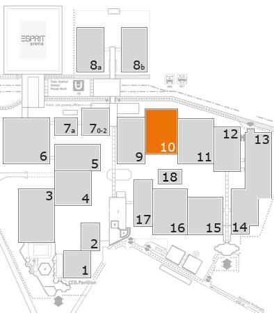 glasstec 2016 Geländeplan: Halle 10