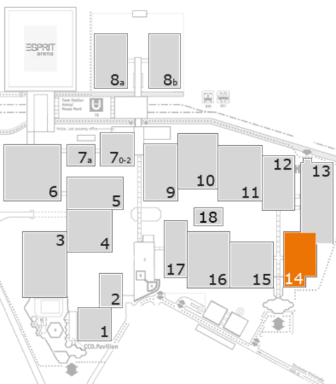 glasstec 2016 fairground map: Hall 14