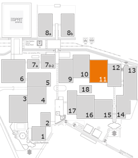 glasstec 2016 fairground map: Hall 11