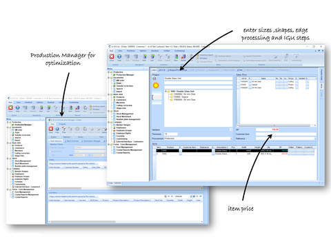 A+W iCut: Optimize cutting – Edit orders – Manage storage