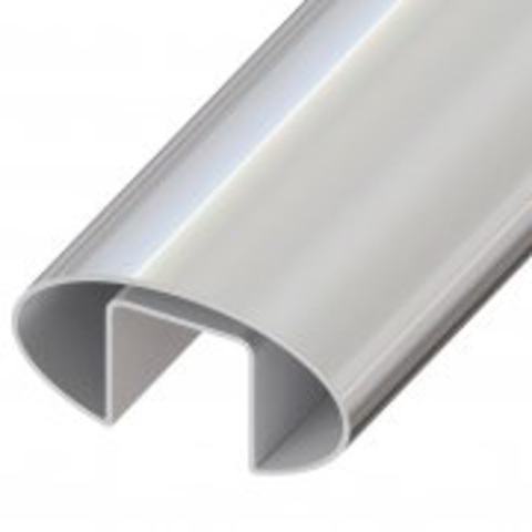 60 x 30mm Oval Handrail suits 10-21.5mm 5.8M length Duplex 2205