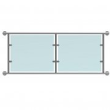 Glass Juliet Balcony Double Door Kit For 48.3mm-Stainless 316 Satin-No Glass