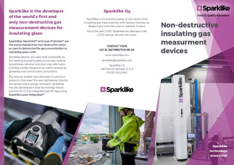 Leaflet for Sparklike products