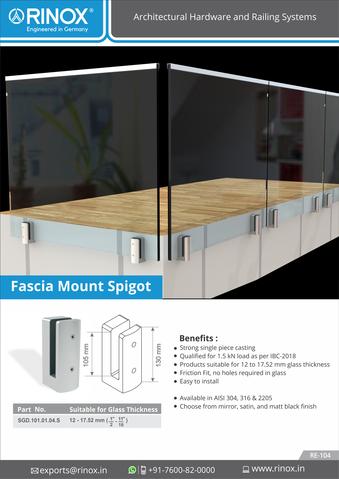 Fascia Mount Spigot