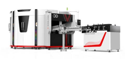 6-color servo silk screen printing machine