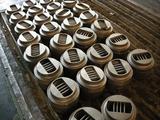bronze rilled bottom plates