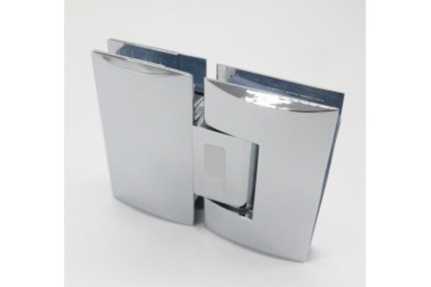 Camber 180 degree glass to glass corner connector shower hinge for swing door