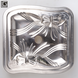 Plate mould with decoration