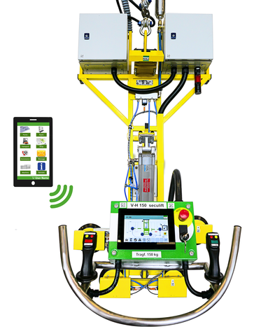 Extremely safe, user-friendly and energy-efficient, and directly connected to the digital world: the V-H 150 seculift from HEGLA and the HEGLA New Technology innovation centre.
