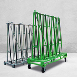 Transport and storage rack for glass